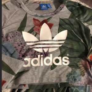 Adidas crop long sleeve top